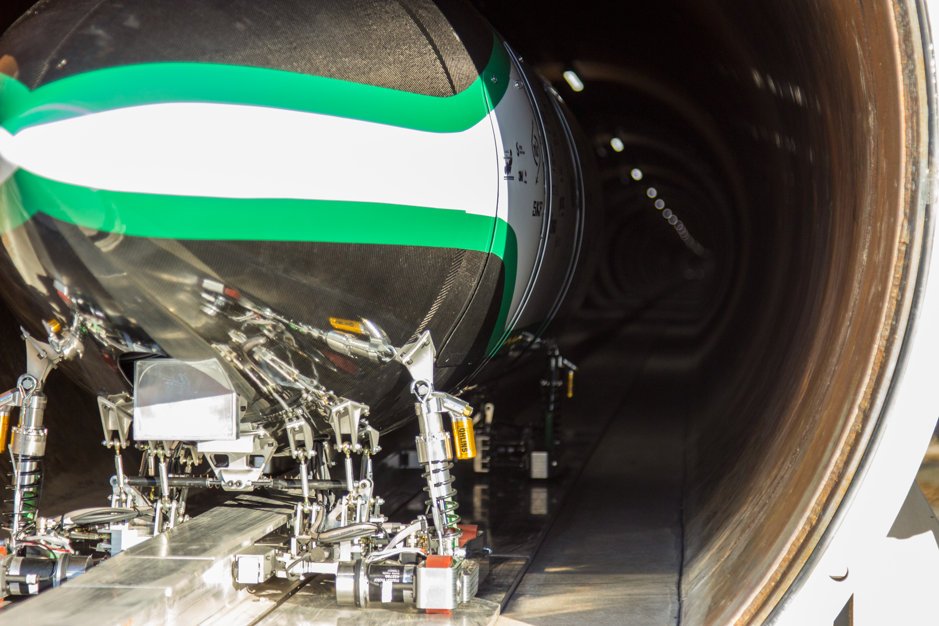 Delft Hyperloop Pod in SpaceX Hyperloop Pod Competition Test Tube